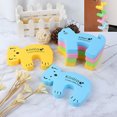 6x Baby Safety Animal Foam Door Jammer Guard Finger Protector Stoppers Home