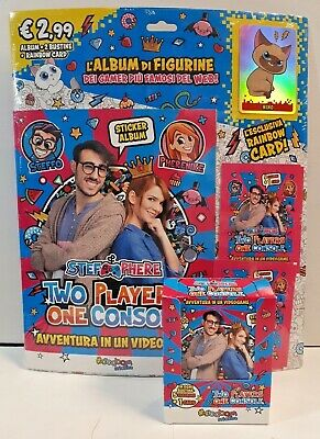 Starter Pack Album Figurine Stef & Phere Two Players One Console +Box 30 Bustine