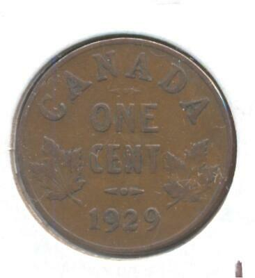 Canada VG10 1929 High Nine One Small Cent coin scarce Variety CV$25