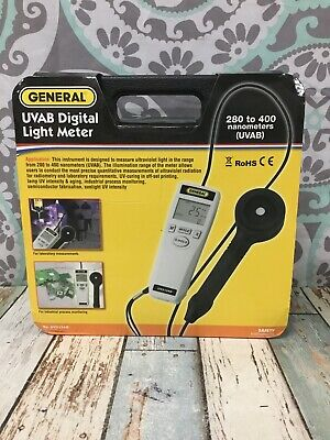 GENERAL UV513AB UVAB Digital Light Meter 280-400 Nanometers New