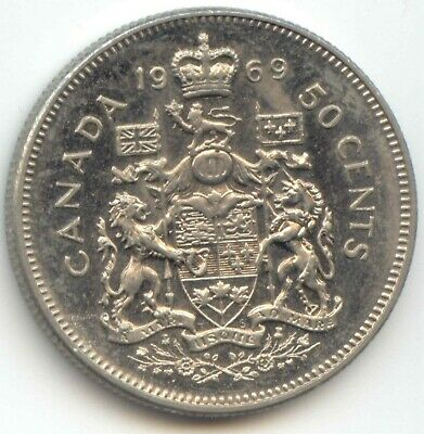 Canada 1969 50 Cent Piece Canadian Half Dollar 50c 50 Cents EXACT COIN SHOWN