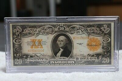 Series of 1922 Large Size $20 Gold Certificate Note