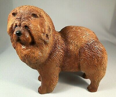 *Scarce* Ric Chashoudian Vintage Figurine Of A Chow Chow Dog, 1980, Outstanding!