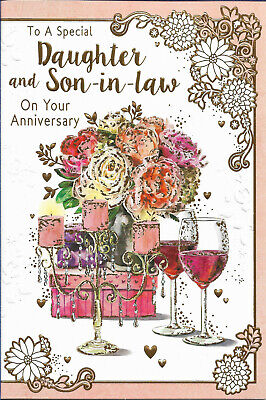 daughter and son in law anniversary card~quality cards~free p//p.