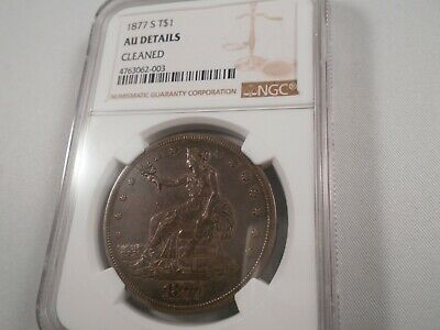 1877-S US Silver Trade Dollar $1 - NGC AU Details