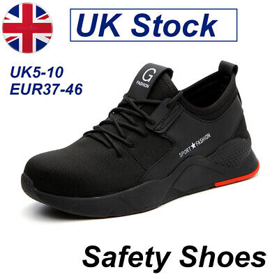 Mens Safety Shoes Trainers Steel Toe Work Boots Sports Hiking Sneakers Gym