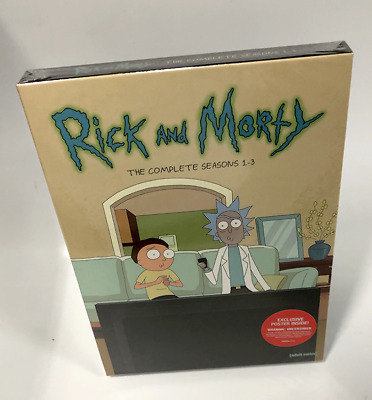Rick And Morty Complete Season 1-3 (DVD, 6-Disc Set) New & Sealed Fast Shipping