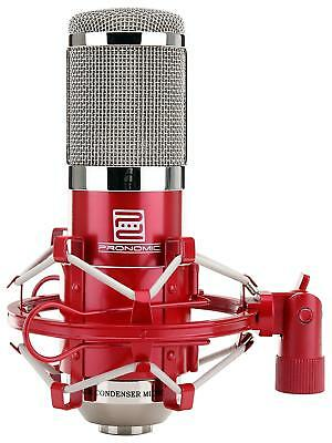 Professional Codenser Microphone Studio Recording Broadcasting Singing Mic Red