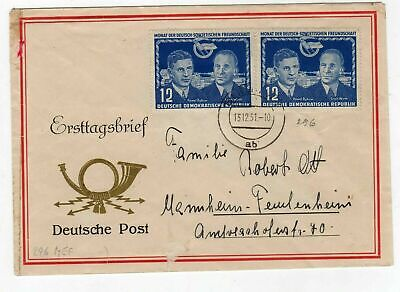 GERMANY EAST 1951 FIRST DAY COVER 12pf FRIENDSHIP WITH RUSSIA, BERLIN CDS
