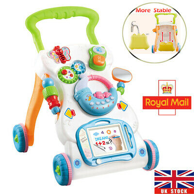 Baby Walker Interactive First Steps Activity Push Along Walking Musical Play Toy
