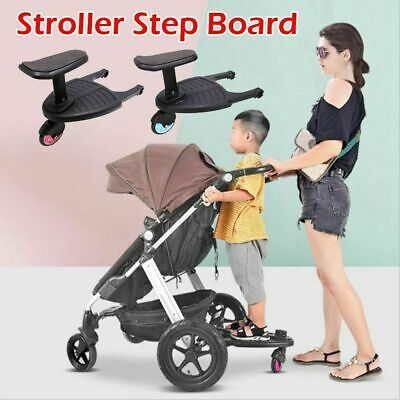 Buggy Stroller Step Board Stand Seat Child Kids Toddler Pushchair Connector UK