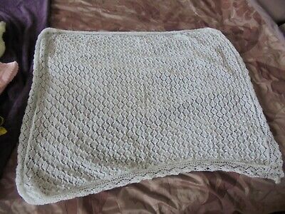 Baby Shawl in White Soft 2 Ply Wool Brand New.