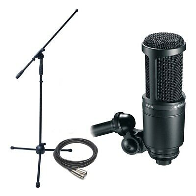 Audio Technica AT2020 Cardioid Condenser Mic w/ Stand, & Cable