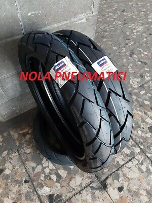 Coppia GOMME 100/90-19 57H 130/80-17 65H Mitas TERRA FORCE + CAMERE MICHELIN