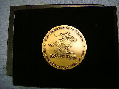 Winchester - Solid Brass Dedication Medallion