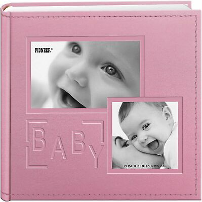 Baby Collage Frame Cover Photo Album, Pink