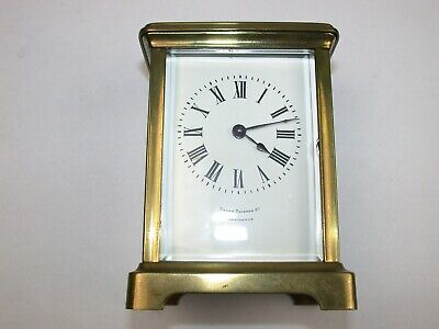 French Brass & Glass Tine Only Running Carriage Clock. 1A