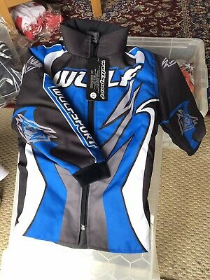 New Cub Wulfsport Jacket Motocross Quad Size 28 Inch Blue