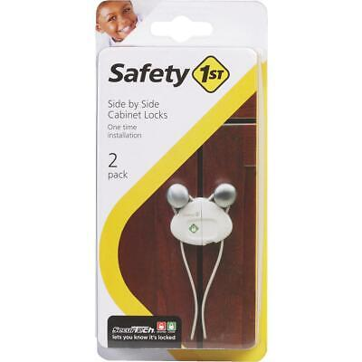Safety 1st Plastic Side by Side White Cabinet Lock (2-Pack) HS158  - 1 Each