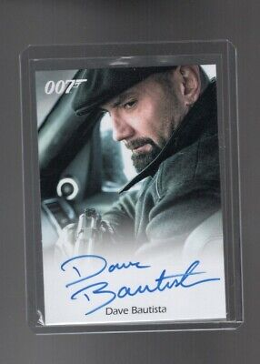 James Bond Archives Final Edition Dave Bautista Autographed card