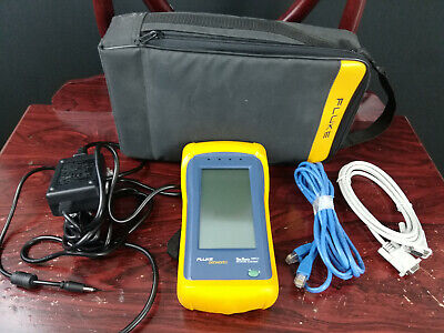Fluke OneTouch 10/100 Network Assistant TESTED WORKING Case Power Cord