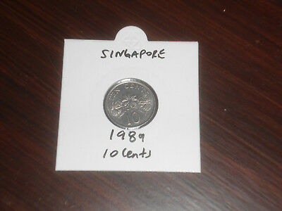 1989 Singapore 10 Cent coin Singaporean ten cents
