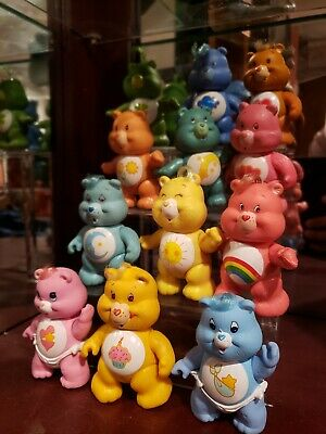 "Lot of 12 Vintage Kenner Care Bears PVC Figurines Bear 3.5"" 1983 Poseable Babies"
