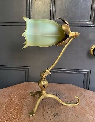 Was Benson Table Lamp Lampe Arts & Crafts Nouveau - Signed Twice