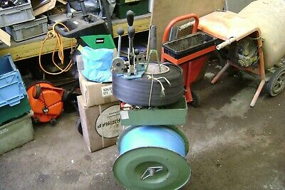 Banding Machine With Clips Polypropylen Banding, Banding Macine Trolly