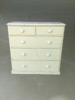 Antique Victorian Painted Pine Chest Of Drawers Sn-807b