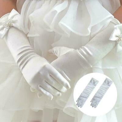 """13-16 Years Pick Your Size ! 13/""""  Stretch Satin Children Wrinkle Glove 8-12"""