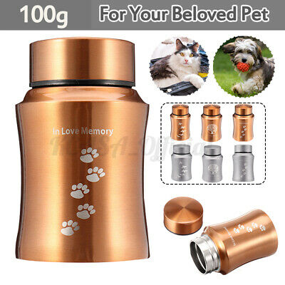 Urn for Pet Dog Ashes Cremation Memorial Small Keepsake Ash Container Jar  EB@