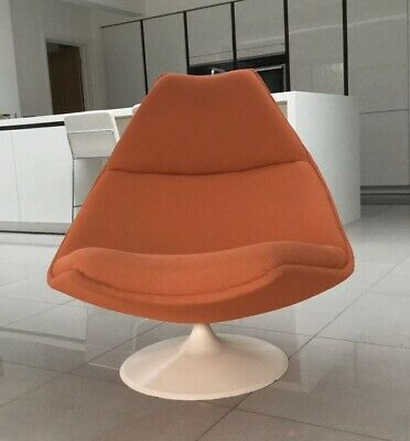 Original Vintage 1960s Artifort Swivel Lounge Chair Mid Century Retro Designer