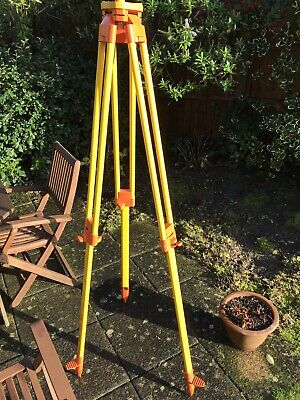 Wild Heerbrugg tripod 170 cm fully extended 107 cm retracted Buhler 7871-2 feet