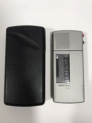 Grundig Sh 20 Dictaphone Mini Cassette Voice Recorder Fully Working Excellent -
