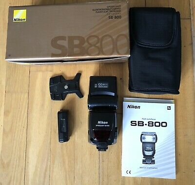 Nikon SB800 Speedlight Flash With Box And Accessories - Used