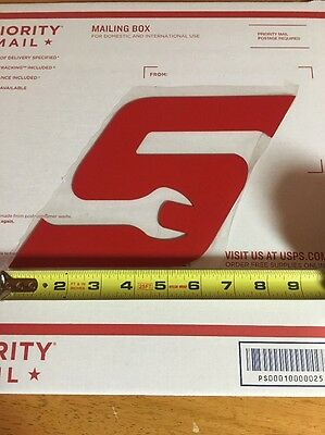 """Snap-on Red """"S"""" Magnetic Logo"""
