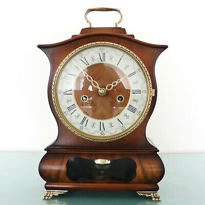 Vintage Dutch WARMINK Clock BIEDEMEIJER RARE Mantel HIGH GLOSS DOUBLE BELL Chime