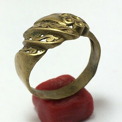 Rare Ancient Extremely Ring Bronze Legionary Roman Old Ring {VERY NICE RING