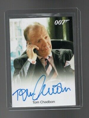 James Bond Archives Final Edition Tom Chadbon Autographed card #2