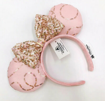 Disney Parks Fantasy Pink Bow Sequins Edition Minnie Ears New Cos Headband