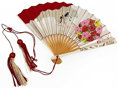 Vintage Japanese Bride's Wedding Ceremony Folding Sensu Fan: Mar20-D