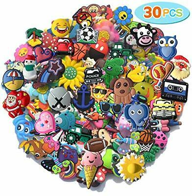 30 pcs Random PVC Different Shoe Charms For Shoe Decoration Wristband