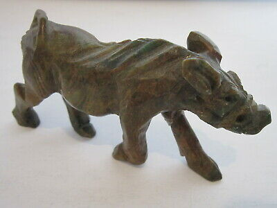 Vintage Collectable Chinese Stone Hand Carved Boar