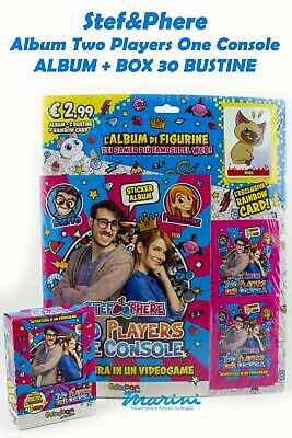 Stef&Phere Two Players One Console Album 32 Bustine Figurine + Rainbow Card 2020