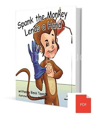 Spank The Monkey Lends a Hand- Mega Funny Children/Adult(PDF)Book fast delivery