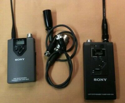 Professional Sony Film And Television Transmitter-- Receiver Battery Operated.