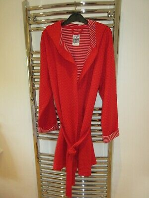 Fabulous lounge and sleep Debenhams hooded dressing gown robe size M 12 - 14 NEW
