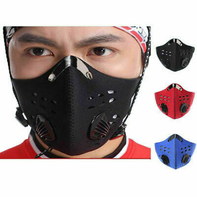Cycling Protective Mouth-muffle Face Shield Haze Fog Mouth Cover With Filter &&