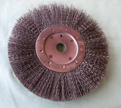 "NOS 8"" CRIMPED 4500 RPM WIRE BRUSH BENCH GRINDER WHEEL MADE in USA"
